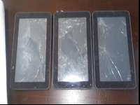 PARTS ONLY: 3 Ematic Genesis 7 black tablets/Ipads: 4GB