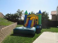 WE RENT WATER SLIDE, BOUNCERS, JUMPERS, CHAIRS, TABLES,