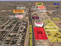Description Up to 3.5 Acres just East of Paseo &