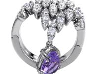 An extraordinary arrangement of diamonds weighing in