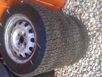 4 used BFGoodrich passenger car snow tires on 13 inch