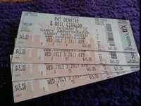 2 or 4 tickets to see the legendary Rocker Pat Benatar.