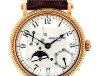 Patek Philippe 18k rose gold Power Reserve Moonphase,