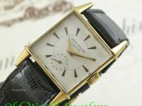 18K yellow gold vintage Patek Philippe square
