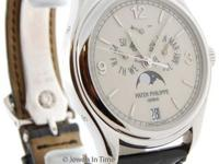 Patek Philippe 18k White Gold Annual Calendar Automatic