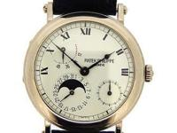 Patek Philippe 18k white gold Power Reserve Moonphase,