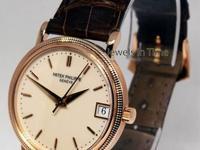 Patek Philippe 3802 Calatrava 18k Rose Gold Mens Watch