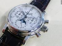 Patek Philippe Ref. 5004, platinum with silver arabic