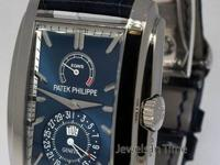 Patek Philippe 5200 Gondolo 8 Day 18k White Gold Blue