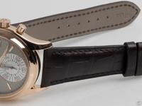 18k rose gold, new black crocodile strap with 18k