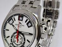 Patek Philippe Annual Calendar Steel Chronograph Watch