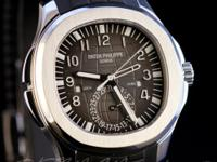 New Patek Philippe Aquanaut Dual Time 5164A-001. This
