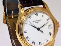 Patek Philippe Calatrava 18k Rose Gold Mens Watch