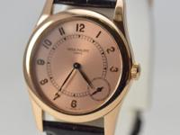 This is a Patek Philippe, Calatrava 18K Rose Gold Small