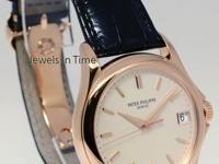 Patek Philippe Calatrava 18k Rose Gold Watch Box/Papers