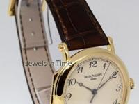 Patek Philippe Calatrava 18K Yellow Gold Mens Officers