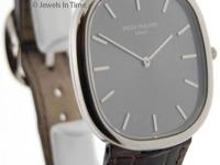 Patek Philippe Ellipse 3738 18K White Gold Mens Watch