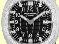 black waffle pattern dial with luminescent hands and