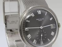 Patek Philippe Mens 18k White Gold Vintage Automatic