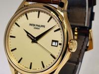 Patek Philippe Mens Calatrava 18k Gold Automatic Watch