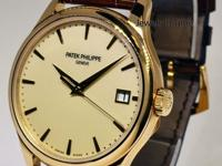 Patek Philippe Mens Calatrava 18k Gold Automatic Watch