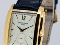 Patek Philippe Mens Gondolo 18k Yellow Gold Watch & Box