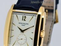 Patek Philippe Mens Gondolo 18k Yellow Gold Watch & Box