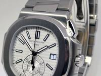 Patek Philippe Mens Nautilus Chronograph Watch Steel