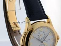 Patek Philippe Mens Travel Time 5134J 18k Gold