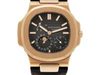 Gents Patek Philippe Nautilus in 18k rose gold on a