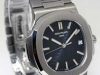 Patek Philippe Nautilus Steel Blue Dial Mens Watch