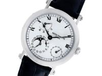 Patek Philippe Moonphase Power Reserve in platinum on a