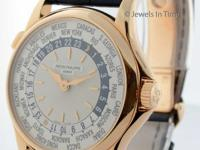 Pristine preowned mens Patek Philippe World Time in