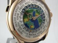 This is a Patek Philippe, WORLD TIME CLOISONNE ENAMEL