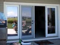 Double french door with two side windows (total of four