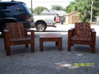 Patio sets available and built to your satisfaction!