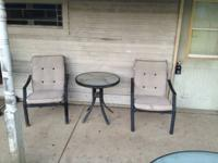Bistro set with matching table & swivel chairs (4) and