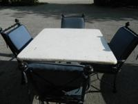 We are selling a 5 piece Patio Furniture set. The set