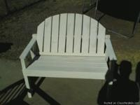 wood made patio sets includes 1 bench, 2 chairs, &