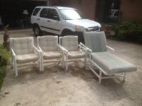 Used Patio Furniture: 3 rolling chairs with cushions 1