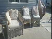 Older patio set still in good condition. Seats may need