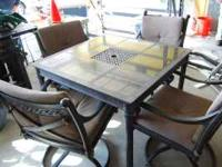 Beautiful top quality patio set with four swivel