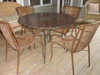 Wood Table and 4 matching chairs purchased at Pier 1