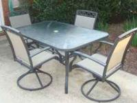 "High quality 60"" x 38"" rectangular glass top patio"