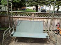mainstay 3-person patio swing $100. Good condition -