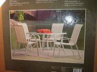 New in Box Patio table and End Table Both for $69.00
