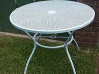 I have an outdoor patio table for sale, $20. It is a