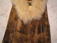 Ladies Patricia Wolf Designer Lamb Tibetan Fur Jacket.