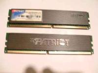 Two 1gb sticks of Patriot DDR2 Gaming Ram 667MHz