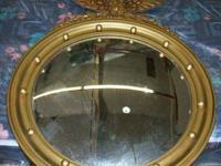 Gold framed w / eagle on leading 19x23.  FANTASTIC